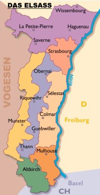 Elsass Karte Colmar.Zentrum 2
